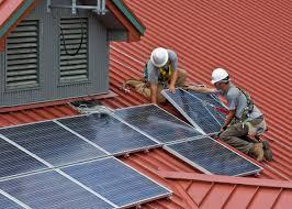 A napelem telepítése